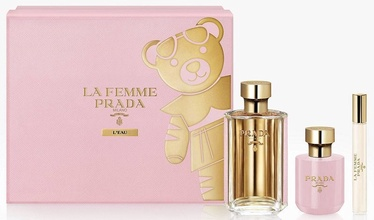 Prada La Femme L'Eau 100ml EDT + 100ml Body Lotion + 10ml EDT