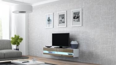 TV staliukas Cama Meble Vigo New 140 White/Latte Gloss, 1400x300x1400 mm
