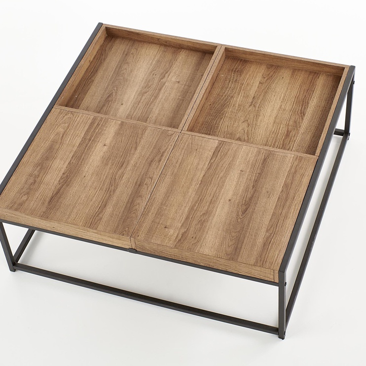 Kafijas galdiņš Halmar Fregata, melna/valriekstu, 840x800x300 mm