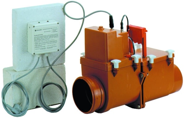 H&L Duo DN110 Drain Return Valve with Electric Flap