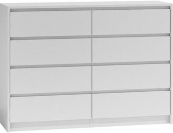 Top E Shop Karo K8 Chest of 8 Drawers White 140cm