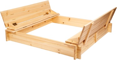 Smilšu kaste Folkland Timber, 120x120x20 cm, ar vāku