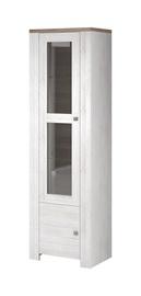 Idzczak Meble Newada 01 1D Glass Cabinet Northland/Sonoma Oak Trufla