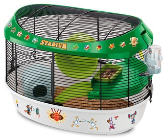 Ferplast Stadium Hamster Cage With Coloured Stickers