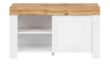 Batų spintelė Black Red White Holten REG1D Wotan Oak/White, 925x370x530 mm