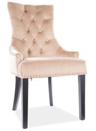 Ēdamistabas krēsls Signal Meble Modern Edward Velvet, smilškrāsas