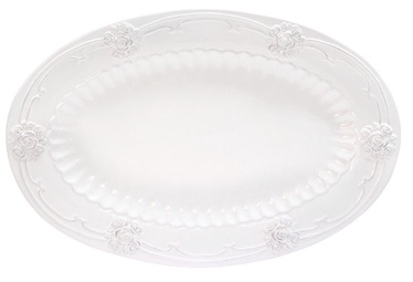 Home4you ROOSI Serving Plate 33x22cm White