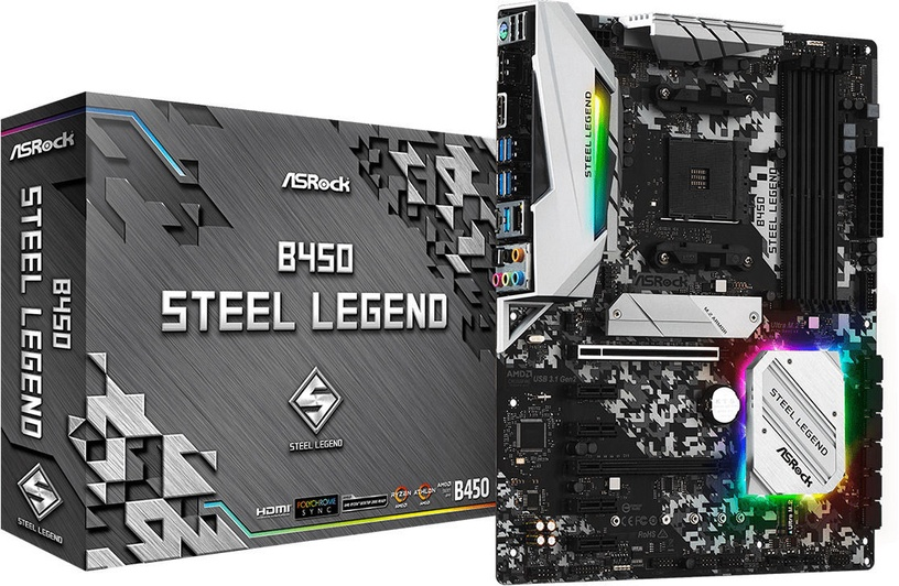 Mātesplate ASRock B450 STEEL LEGEND