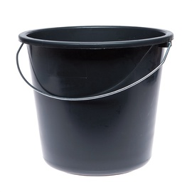 SN Bucket With Metal Handle 12l Black