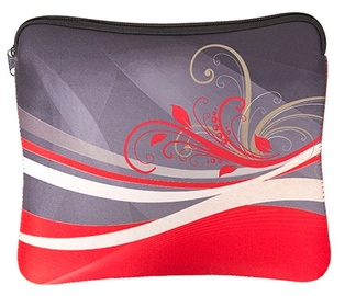 "GoClever Neoprene Shaped Sleeve for 10"" Tablet Red"