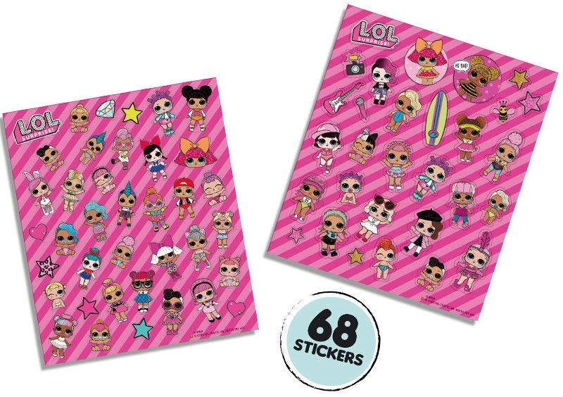 SES Crative L.O.L. Glitter Stickers 14191