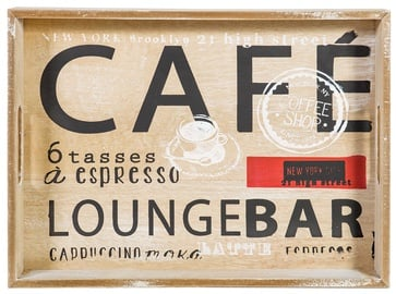 Home4you Tray Cafe-2 30x40xH4.7cm Wood