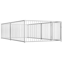 Suņa būris VLX Outdoor Dog Kennel Silver, 2000x4000x1000 mm