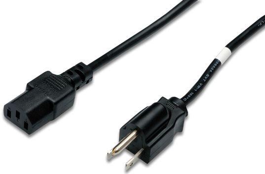 Assmann Cable US plug/IEC C13 Black 1.8m
