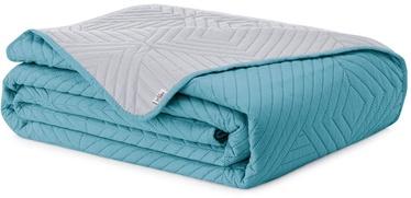 Покрывало AmeliaHome Softa, синий/серый, 240 см x 260 см