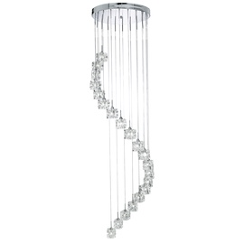 Kabantis šviestuvas Searchlight Sculptured Ice 6720-20-LED, 20x3W, integruota LED lempa