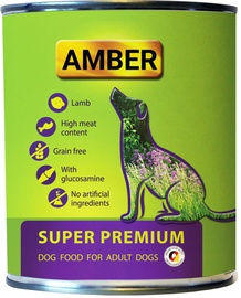 Amber Super Premium Dog Food With Lamb & Glucosamine 800g 6pcs