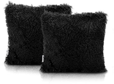 AmeliaHome Karvag Pillowcase 45x45 Black 2pcs