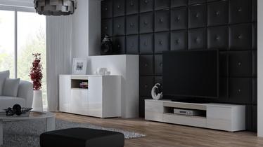 TV galds Cama Meble Viva 180, balta/ozola, 1800x400x374 mm