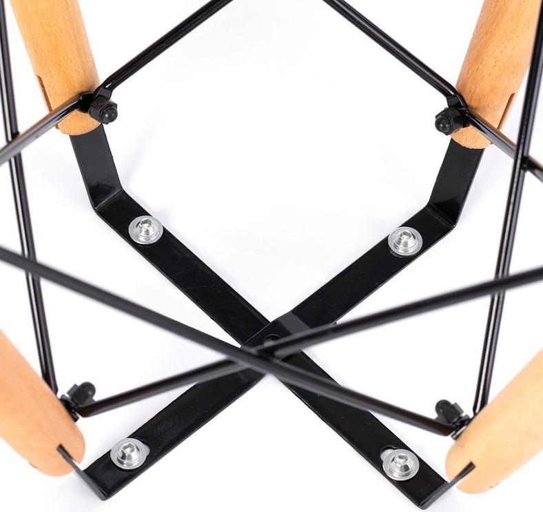 Kafijas galdiņš Homede Tebe, balta/ozola, 650x650x700 mm