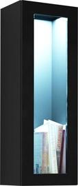 Seinariiul Cama Meble Vigo 90 Cabinet Glass Black/Black Gloss