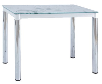 Pusdienu galds Signal Meble Modern Damar, balta, 1000x600x750mm