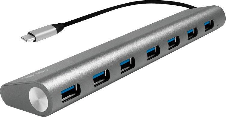 USB-разветвитель (USB-hub) LogiLink USB-C 3.1 HUB 7-Port Grey