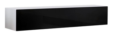 TV galds ASM RTV Fly 30, balta/melna, 1600x400x300 mm