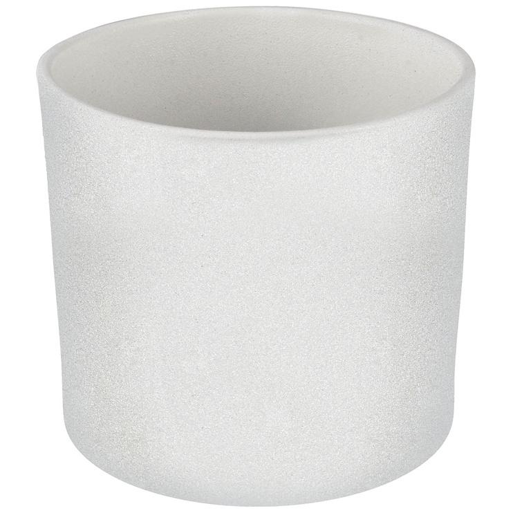 Горшок кер DOMOLETTI, WALEC STRUCTUR, д32, цвет белый