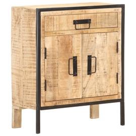 Шкаф VLX Rough Mango Wood, коричневый/черный, 60 см x 30 см x 75 см