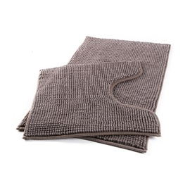 Vonios kilimėlių komplektas Domoletti Chenillema 3188a1-2, rudas, 50 x 50 cm; 50 x 80 cm