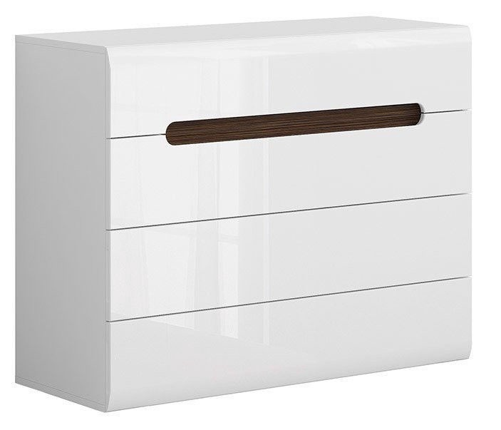 Black Red White Azteca Trio Chest Of Drawers White
