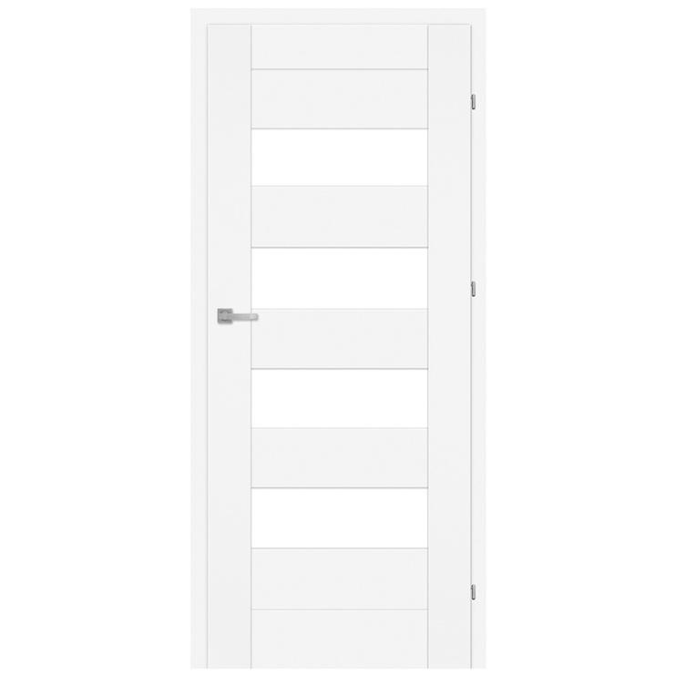 Vidaus durų varčia Lora M3, balta, dešininė, 203.5x84.4 cm