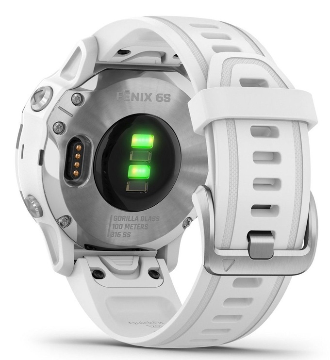 Garmin Fenix 6S Silver with White Band
