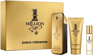 Paco Rabanne 1 Million 100ml EDT + 100ml Shower Gel + 10ml EDT