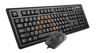 Klaviatūra ir pelė A4Tech KRS-8372 USB Black US