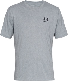 Under Armour Mens Sportstyle Left Chest SS Shirt 1326799-036 Light Grey M