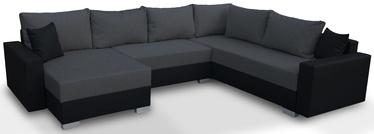Kampinė sofa Platan Gustaw 04 Dark Grey, 315 x 135 x 87 cm