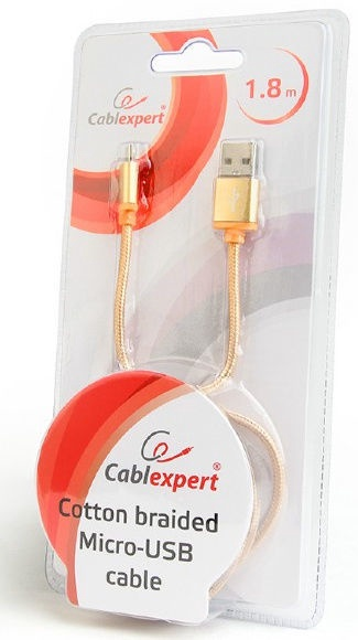 Cablexpert Micro-USB to USB Cable CCB-mUSB2B-AMBM-6 Gold