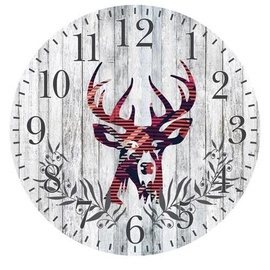 Platinet Deer Wall Clock Grey