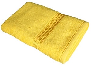 Verners Frotee Wick Pattern 70x140cm Yellow