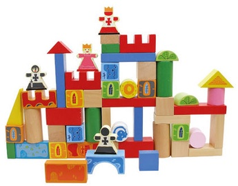 Playme Wooden Blocks 80pcs