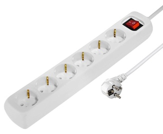 Hama Power Strip 6 Outlet 3m White
