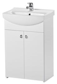 Pastatoma vonios spintelė su praustuvu ir maišytuvu Cersanit, balta