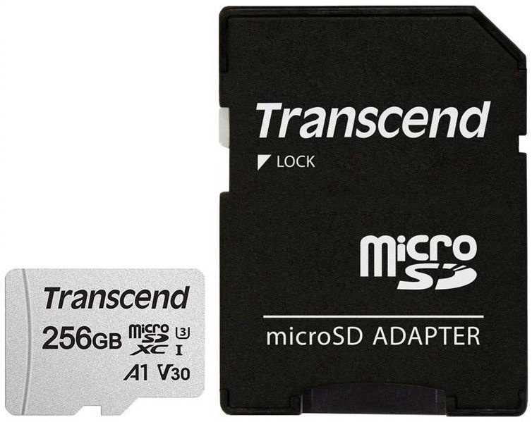 Transcend 300S 256GB microSDXC CL10 UHS-I + SD Adapter