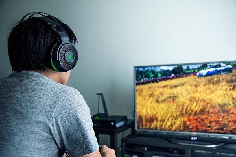 Žaidimų ausinės Razer Thresher Xbox One Black, belaidės