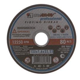 Pjovimo diskas, 125 x 1.6 x 22.23 mm