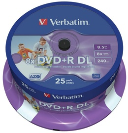 Verbatim DVD+R DL Printable 8.5GB 25pcs