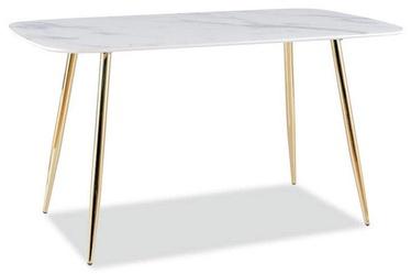 Pusdienu galds Signal Meble Modern Ceres, zelta, 1400x800x750mm
