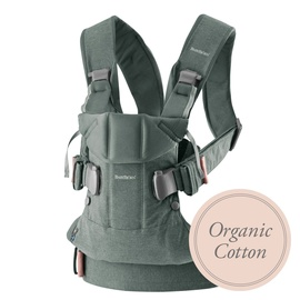 BabyBjorn Baby Carrier One Greyish Green Organic 098068E1